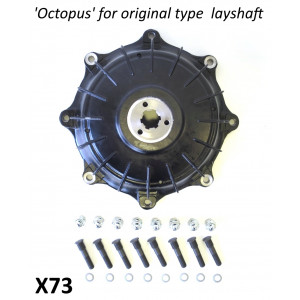 Mozzo posteriore Casa Performance Octopus per asse ruota standard per Lambretta S1 + S2 + TV2 + S3 + TV3 + Special + SX + DL + Serveta