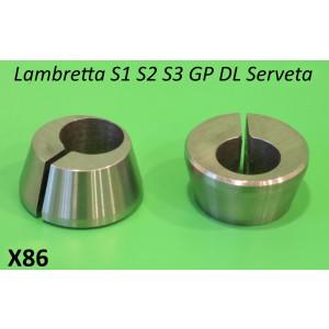 Coppia coni disassati perno motore Lambretta S1 + S2 + S3 + SX + DL