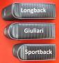 Sella sportiva RLC Dante Longback Nera per Lambretta S1 + S2 + S3 + DL