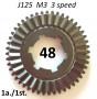 Ingranaggio 1a. marcia a 48 denti per Lambretta J125 'M3' 3 marce