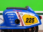 Sella speciale per monoscocca posteriore Lambretta in vetroresina. Nera con cucitura rossa