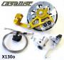 Kit freno a disco Casa Performance CasaDisc - Oro -  Lambretta S1 + S2 + TV2 + S3 + TV3 + Special + SX + DL + Serveta