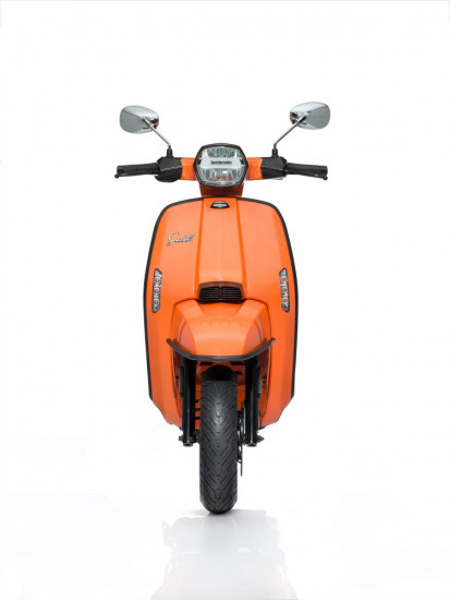 Bumper front black fix for New Lambretta (FOR ONLY FISSED MUDGUARD)