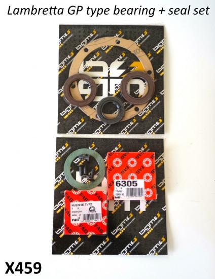 BGM crankshaft bearings, oilseals and gaskets set for Lambretta GP 150/200cc