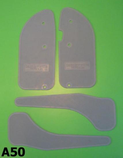 Grey rubber mat set Lambretta Serveta