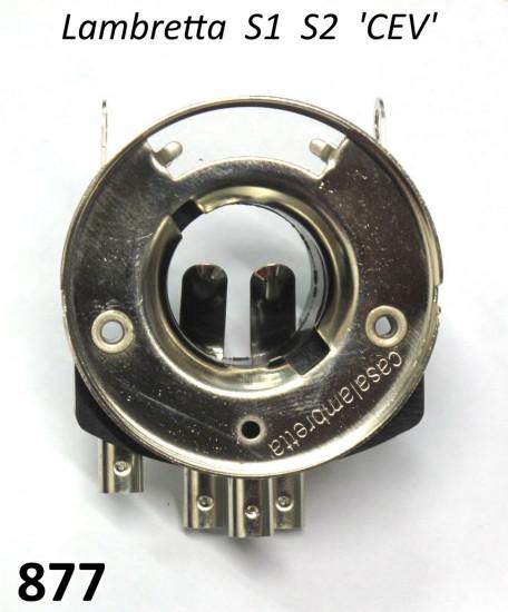 CEV type headlamp bulb holder Lambretta S1 + S2