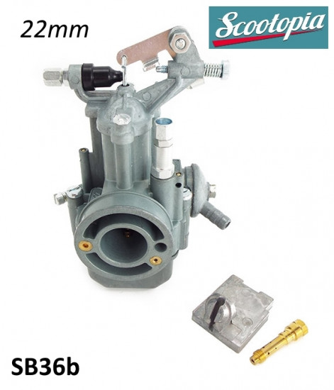 Complete 22mm Dell'Orto SH2 / 22 type carburettor for Lambretta 150-200cc