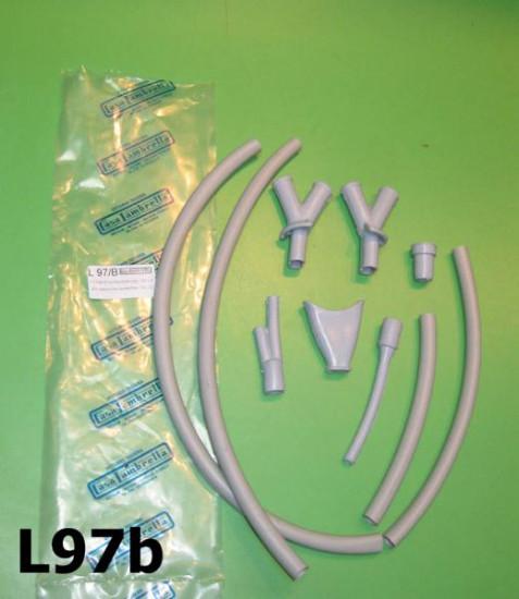Handlebar outer cables protection / rubber shroud set Lambretta LD '55 - '56
