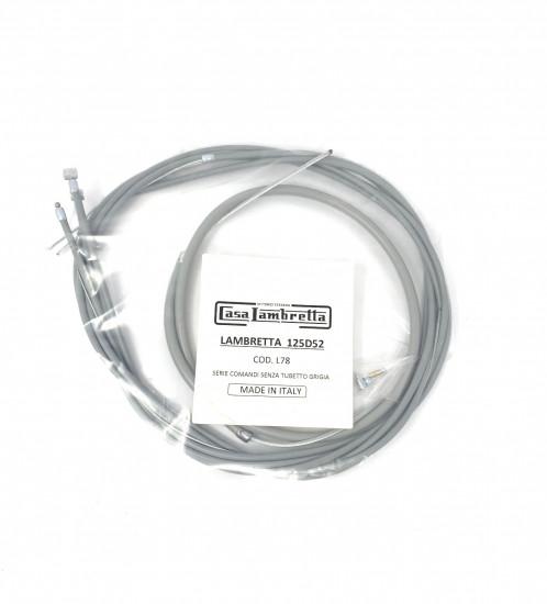 Complete cable set Lambretta D + LD125 1951-52'