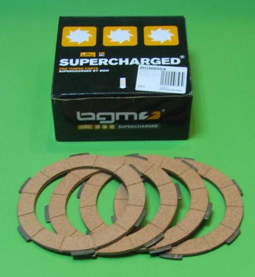 Set of 4 clutch plates (standard type) for Lambretta S1 LI + S2 + S3 LI TV GT SX Special + GP DL + Serveta