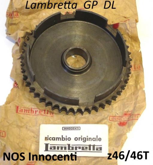 Original NOS Innocenti 46T clutch sprocket crownwheel Lambretta SX + GP