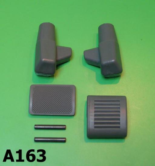 Grey stand + kickstart + brake pedal rubber kit Lambretta S1 + S2 + S3 + SX + DL/GP + Serveta