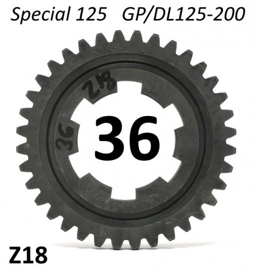 36T 4th gear cog for Lambretta Special 125 + DL / GP125 - 200