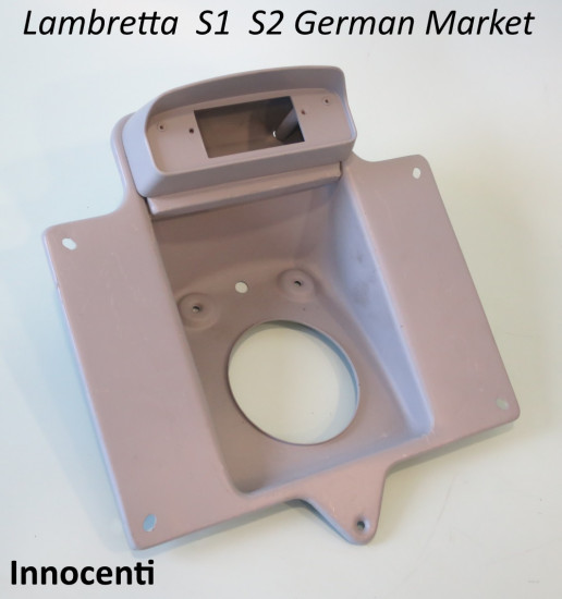 ORIGINAL Innocenti numberplate support + rear light unit for German Lambretta S1 + S2