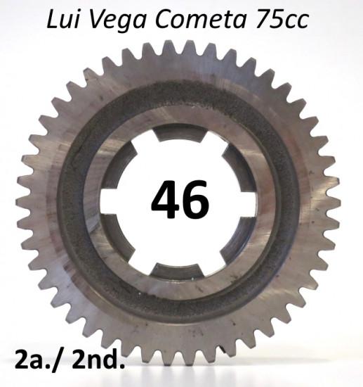 46T 2nd gear cog for Lambretta Vega + Cometa 75cc (4 speed)