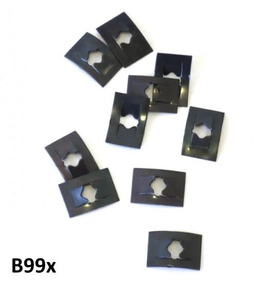Speedclips for fixing floorboard runner strips + badges (pack of 10)
