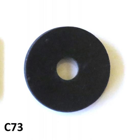 Rubber antivibration washer for between bodywork + frame components