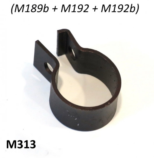 Small exhaust tailpipe clamp for various Lambretta Series 1 + 2 type exhausts