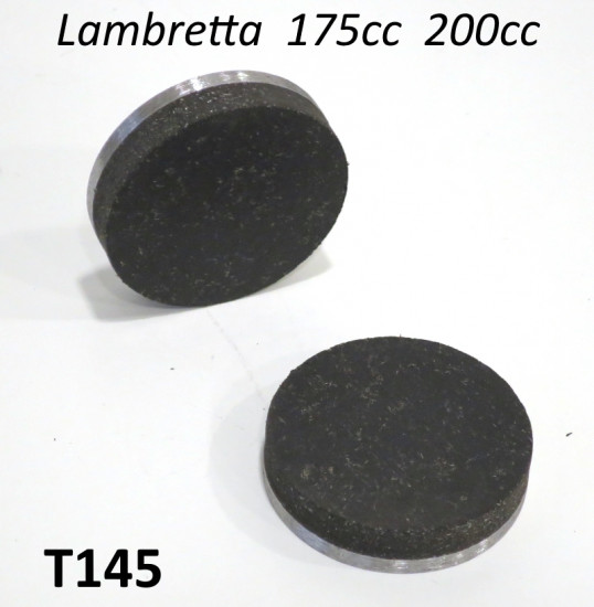 NEW IMPROVED QUALITY! Pair of Italian made disc brake pads for Lambretta 175cc + 200cc