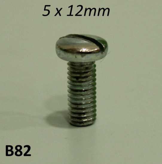 5mm x 12mm Domed 'cheese head' screw for bodywork