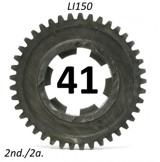41T 2nd gear cog for all Lambretta LI150 S1 + S2 + S3