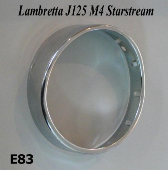 Chrome headlamp rim Lambrertta M4 J125 Starstream