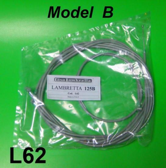 Complete control cable set for Lambretta B model