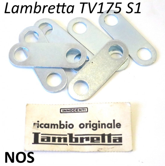 Original NOS Innocenti rear brake shoes retaining plate for Lambretta TV1