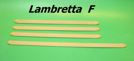 Set of 4 rubber footboard runners (with metallic inserts) Lambretta F