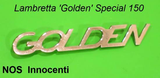 Original NOS Innocenti 'Golden' legshield badge Lambretta Special 150