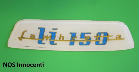 Original NOS Innocenti rear frame badge Lambretta LI150 S3