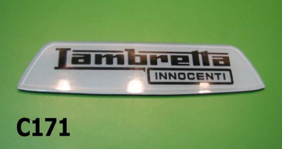 Plastic rear frame badge 'Lambretta Innocenti' for Special models
