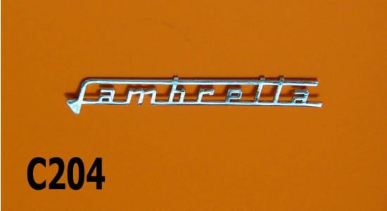 Chrome 'Lambretta' legshield badge (early type) for Lambretta Lui Vega Cometa