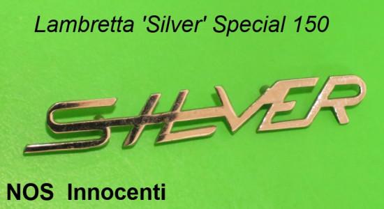 Original NOS Innocenti 'Silver' legshield badge Lambretta Special 150