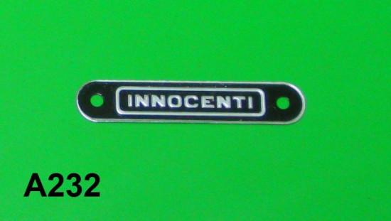 """Rear """"Innocenti"""" seat badge Lambretta S1 + S2 + S3 + SX"""
