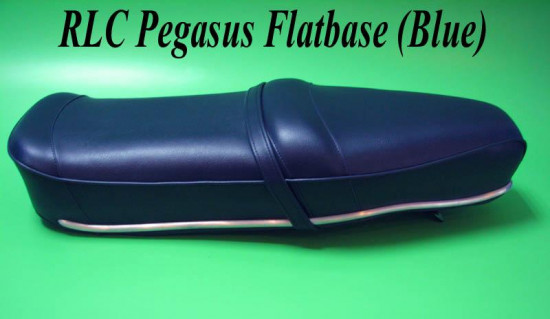 Blue Pegasus 'flatbase' seat for Lambretta S3 (HIGH fronted version) + Series1 & 2