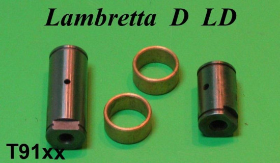 Pair of bronze bushes & rear suspension linkage pins