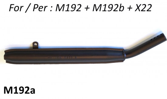 Exhaust tailpipe (only) for exhausts M192 + M192b + X22