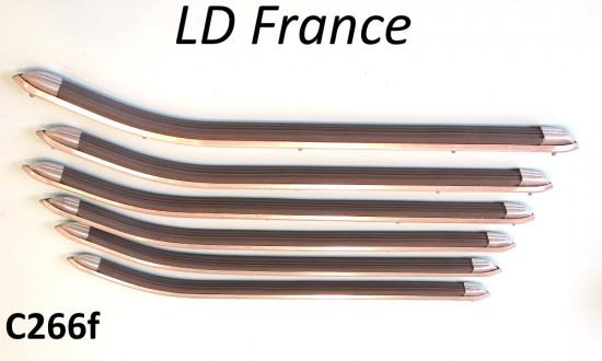 Complete floorboard runner set for Lambretta LD France (French production models)