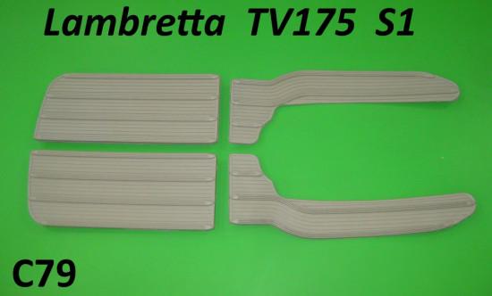 Rubber floormat set (front & rear / 4 pcs.) Lambretta TV175 S1