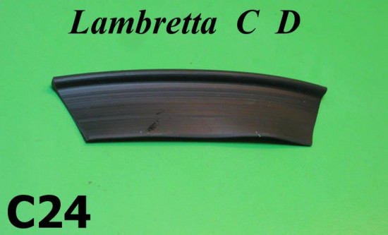 Rubber anti vibration spacer between legshield / frame