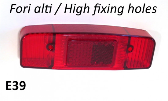 Rear light lense with HIGH fixing holes