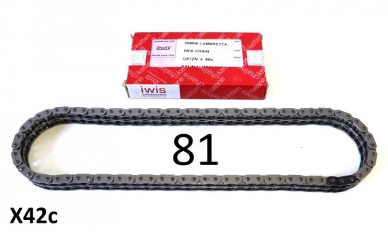 Transmission chain IWIS 81 link Lambretta S1 + S2 + S3 + SX + DL/GP