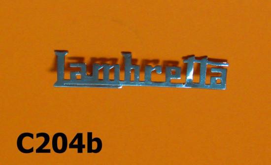'Lambretta' legshield badge (later type)