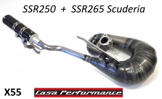 Casa Performance exhaust for SSR250 + SSR265 Scuderia