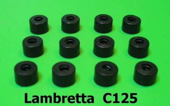 Set of 12 rubber spacers (for ali floorboard runner strips C245) Lambretta C125