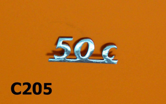Legshield badge '50 C'
