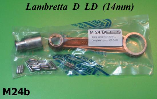 Complete conrod kit 14mm piston gudgeon pin Lambretta D + LD 125