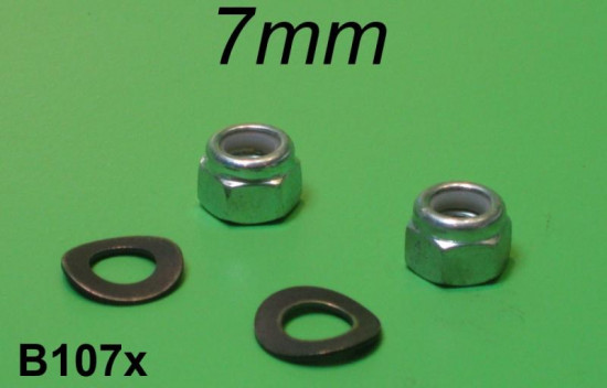 Inlet manifold M7 nyloc nuts Lambretta S1 + S2 + S3 + SX + DL/GP + J + Vega