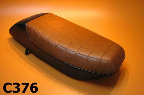 Complete seat - Black/Brown - Lambretta J50 Special